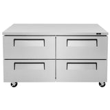 "Turbo Air Super Deluxe Undercounter Refrigerator, 2 Section, 4 Drawer, 60""W"