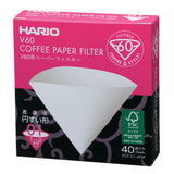 HARIO V60 Paper Coffee Filter 40 sheets 01, White