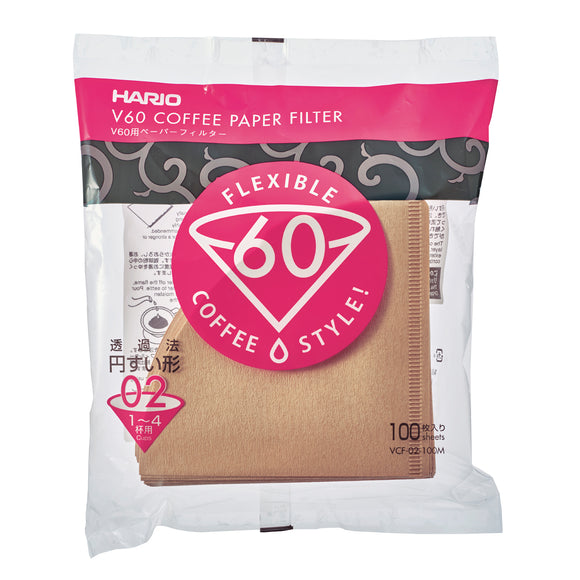 HARIO V60 Paper Coffee Filter 100 sheets 02, Natural