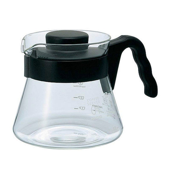 HARIO V60 Glass Coffee Server 450ml, Black