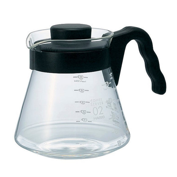 HARIO V60 Glass Coffee Server 700ml, Black
