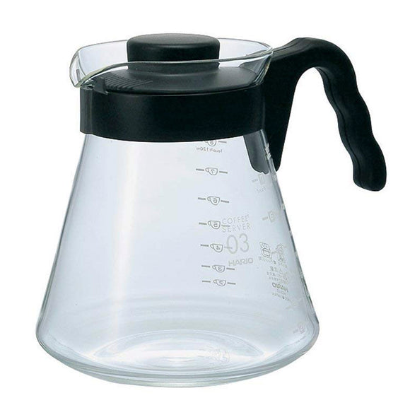 HARIO V60 Glass Coffee Server 1,000ml, Black