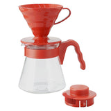 HARIO V60 Coffee Dripper & Server 700ml, Red