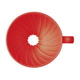HARIO V60 Ceramic Coffee Dripper 01, Red