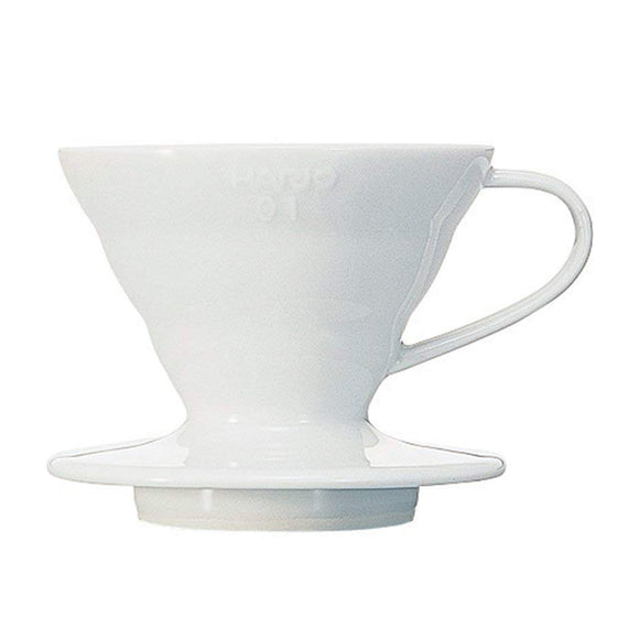 HARIO V60 Ceramic Coffee Dripper 01, White