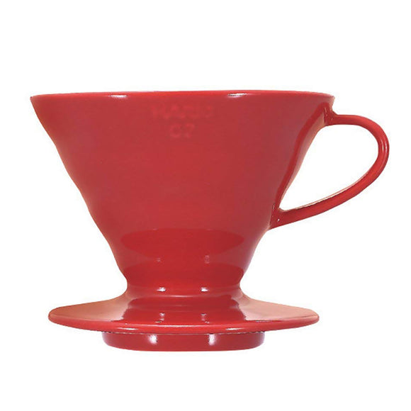 HARIO V60 Ceramic Coffee Dripper 02, Red