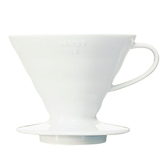 HARIO V60 Ceramic Coffee Dripper 02, White