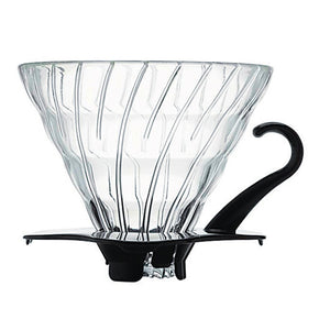 HARIO V60 Glass Coffee Dripper 01, Black