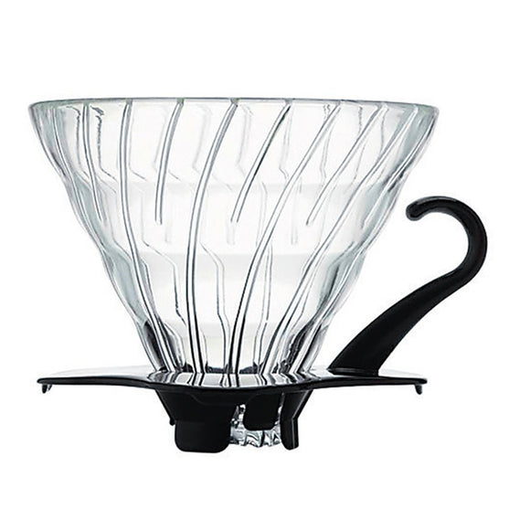 HARIO V60 Glass Coffee Dripper 02, Black