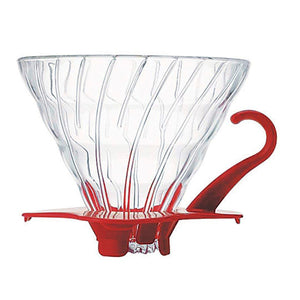 HARIO V60 Glass Coffee Dripper 02, Red