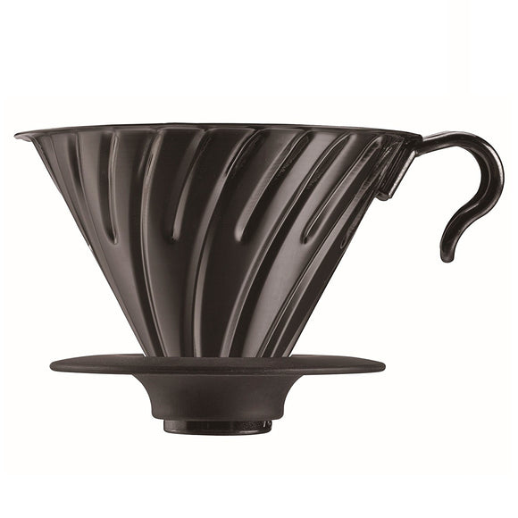 HARIO V60 Metal Coffee Dripper 02, Black
