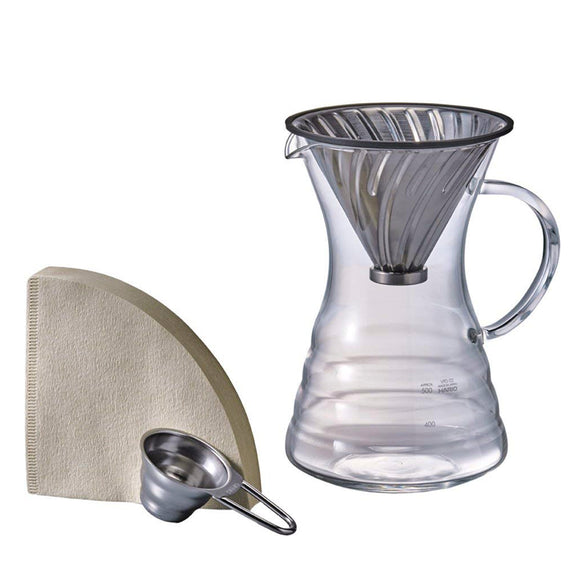 HARIO V60 Pour Over Decanter & Dripper, Size 02