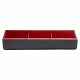 "Lacquer Lunch Box 3-Section 14-1/4""x4-7/8"""