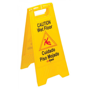 Wet Floor Sign Yellow 25 x 12""