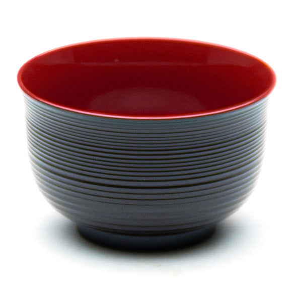 Lacquer Miso Soup Bowl , Red