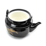 Black Melamine Teapot 38 Fl Oz, Black