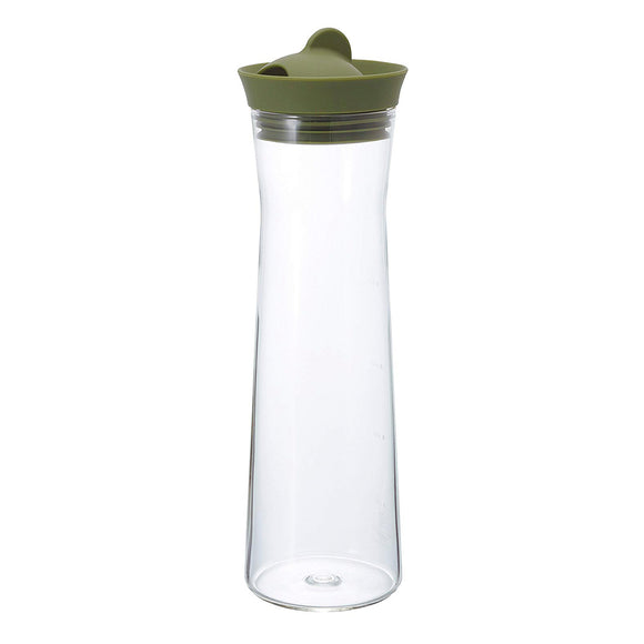 HARIO Glass Water Pitcher 1000ml, Olive Green