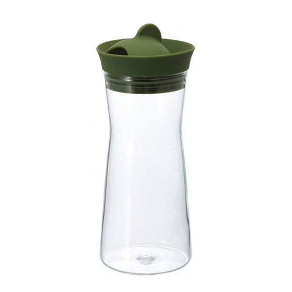 HARIO Glass Water Pitcher 700ml, Olive Green