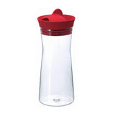 HARIO Glass Water Pitcher 700ml, Red
