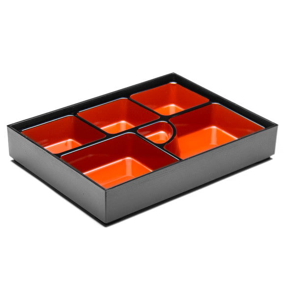 Lacquer Lunch Box 6-Compartment 14.5