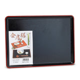 "Lacquer Rectangular Tray 15.5""x11.25"", Black"