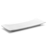 "Melamine Rectangular Platter 13"", Shiny White"