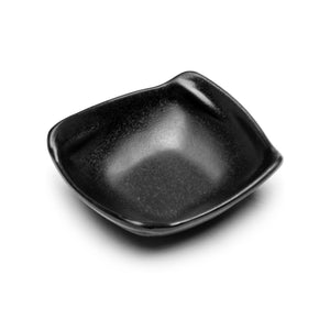 "Melamine Square Side Bowl 4-1/2"", Matte Black"
