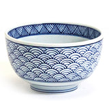 "Round Donburi Bowl 5"", Blue Wave"