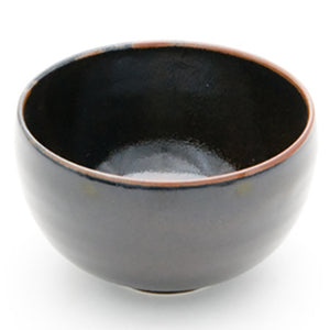 "Round Rice Bowl 4"", Black"