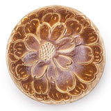 "Round Bowl 6.75"", Brown Flower"