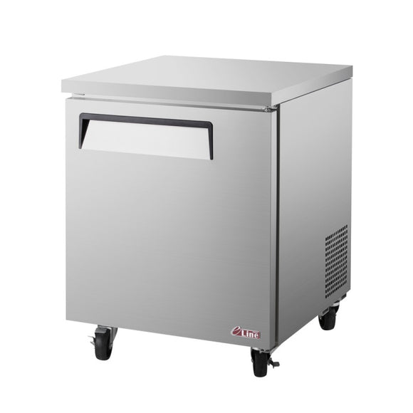 Turbo Air E-line Undercounter Freezer, 1 Section, 1 Door, 27