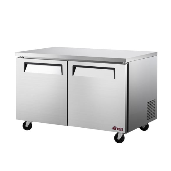 Turbo Air E-line Undercounter Freezer, 2 Section, 2 Door, 60