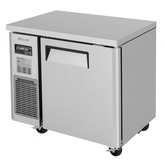 Turbo Air J Series Narrow Undercounter Freezer, 1 Section, 1 Door, 35