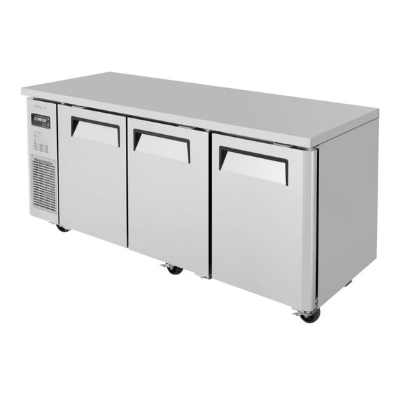 Turbo Air J Series Narrow Undercounter Refrigerator, 3 Section, 3 Door, 70