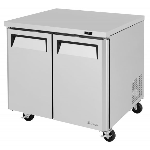 Turbo Air M3 Undercounter Freezer, 2 Section, 2 Door, 36