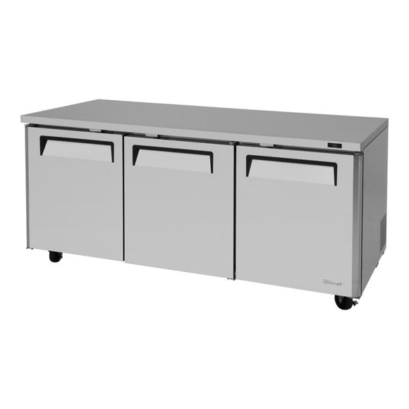 Turbo Air M3 Undercounter Refrigerator, 3 Section, 72