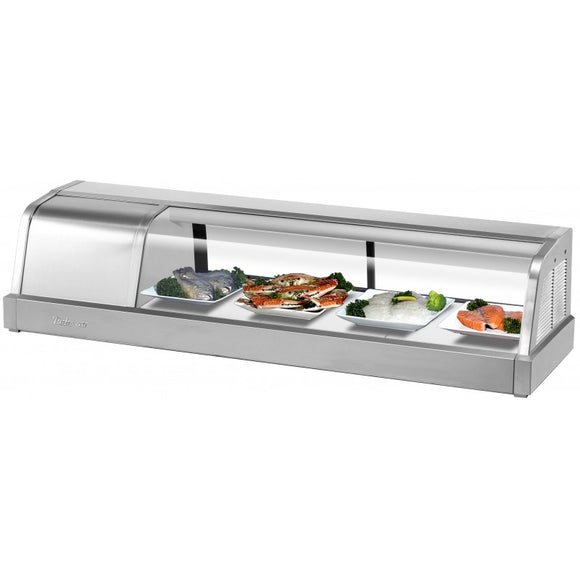 Turbo Air Refrigerated Sushi Case Display, Left or Right Side Condenser, 48