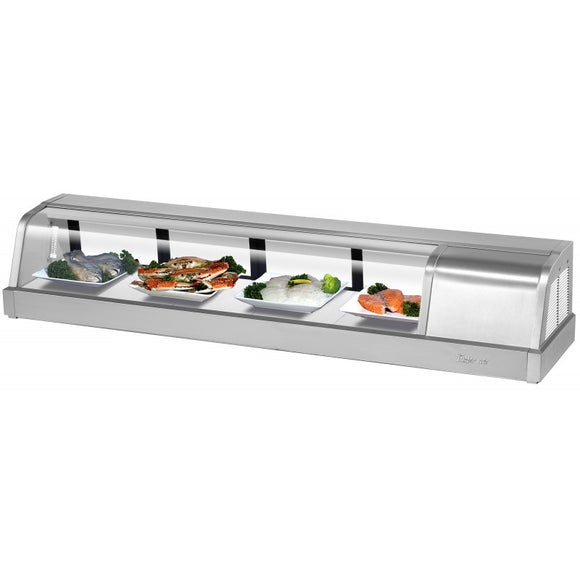 Turbo Air Refrigerated Sushi Case Display, Left or Right Side Condenser, 59