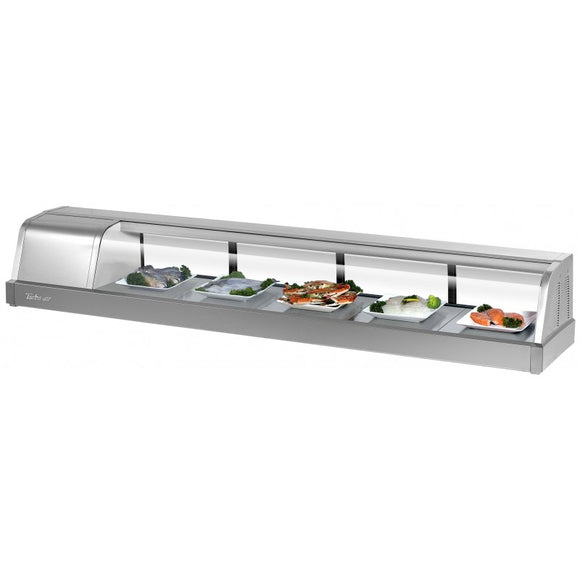 Turbo Air Refrigerated Sushi Case Display, Left or Right Side Condenser, 71
