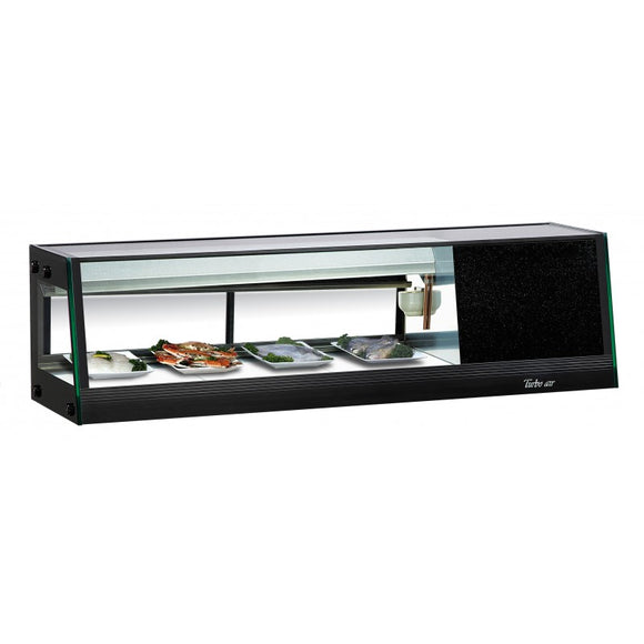 Turbo Air Refrigerated Sushi Case Display, Left or Right Side Condenser, 46