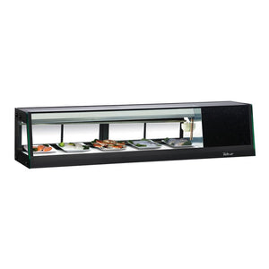 "Turbo Air Refrigerated Sushi Case Display, Left or Right Side Condenser, 58""W"