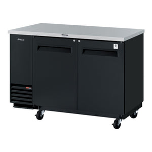 "Turbo Air Super Deluxe Back Bar Cooler, 58""W, Black"