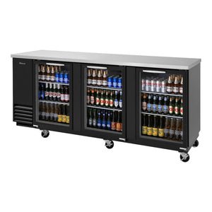"Turbo Air Super Deluxe Back Bar Cooler, 90""W, Glass Door"