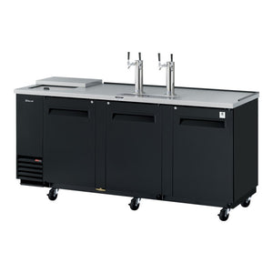 "Turbo Air Super Deluxe Club Top Beer Dispenser, 90""W, Black"