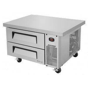 "Turbo Air Super Deluxe Chef Base, 1 Section, 2 Drawer, 36""W"