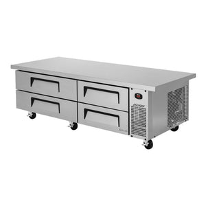"Turbo Air Super Deluxe Chef Base, Extended Top, 2 section, 4 Drawers, 72""W"