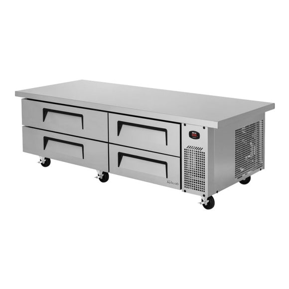 Turbo Air Super Deluxe Chef Base, Extended Top, 2 section, 4 Drawers, 72