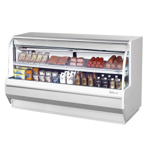 "Turbo Air Direct Cooking Deli Case, 72""W, Low Profile, White or Black"