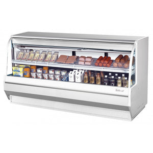 "Turbo Air Direct Cooking Deli Case, 96""W, Low Profile, White or Black"
