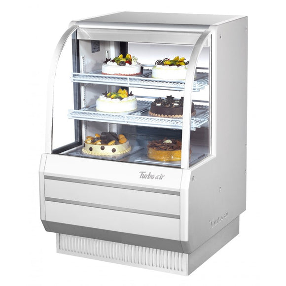 Turbo Air Dry Curved Glass Bakery Case, 36